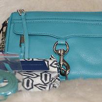 Sale  Rebecca Minkoff  Mini Mac Teal Green Silver Crossbody Bag Retail 195.00 Photo