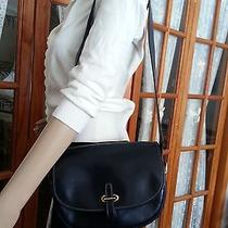 Sale Vguc Hermes Ink Blue Box Calf Leather Balle De Golfe Shoulder Bag Purse Photo