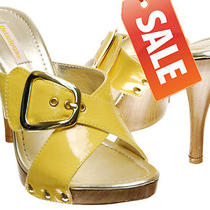 Saleyellow 6.5women Mother Spring Fashion Metal Buckle Stud Slip on Sandalelt Photo