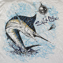 Salt Life Blue Marlin L/s T-Shirt Medium Saltwater Fishing Billfish Charter Fish Photo