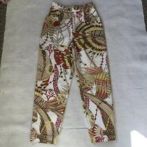 Salvador Ferragamo Designer Jeans Trousers Vintage 90s Pattern Print Versace Photo