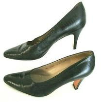 Salvatore Ferragamo Black Croc Leather Shoes 3
