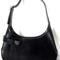 Salvatore Ferragamo  Black Leather Hobo Bag Classic  Xlnt Photo