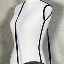 Salvatore Ferragamo Blue Leather Crossbody Purse Vintage  Photo