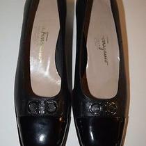 Salvatore Ferragamo Boutique Black Flats Size 7 B Made in Italy Excellent Cond. Photo