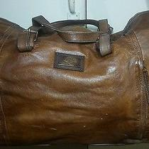 Salvatore Ferragamo Brown Leather Duffle Bag Gym Bag Luggage a Must Have Photo