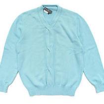 Salvatore Ferragamo Cable Accent Sweater - Lightblue Size L Photo