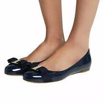 Salvatore Ferragamo Carina Oxford Blue Ballet Flat Size 6.5 Photo