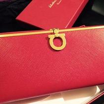Salvatore Ferragamo Continental Wallet Red New in Box Photo