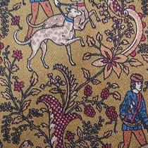 Salvatore Ferragamo Darkolivegreen Hunting Art Silk Necktie Tie Hsag20 Photo