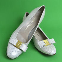 Salvatore Ferragamo Elegant Bridal White Wedding Pumps Shoes Size 8.5 Aaa Italy  Photo
