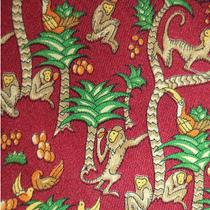 Salvatore Ferragamo Fun Monkey Toucan Tropical Paradise Silk Neck Tie Photo