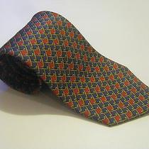 Salvatore Ferragamo Golf Club Designer Power Tie Made in Italy 100% Silk Necktie Photo