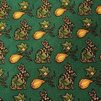Salvatore Ferragamo   Green & Yellow Rabbit / Gourd Silk Tie Photo