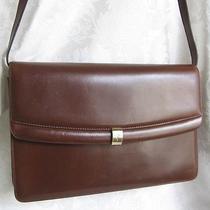 Salvatore Ferragamo Large Brown Convertible Clutch/cross-Body Handbag 11x7.5x3 Photo
