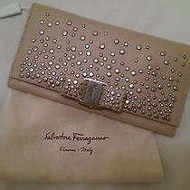 Salvatore Ferragamo Leather Beige Wallet New Made in Italy Photo