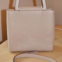 Salvatore Ferragamo Leather Handbag With Lacquered Handled's & Strap Aq-21 9263 Photo