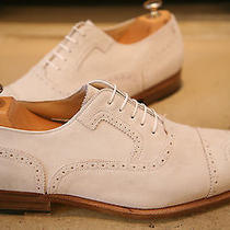 Salvatore Ferragamo Men's Made in Italy White Suede Shoes Uk 11 Wedding Photo