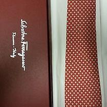 Salvatore Ferragamo Mens Silk Tie New in Box Photo