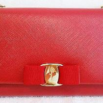 Salvatore Ferragamo Miss Vara Bag Crossbody Red Clutch  Photo