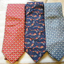 Salvatore Ferragamo Neckties 1 Trainset  & 2 Golf Clubs & Ball (Lot of 3 New) Photo