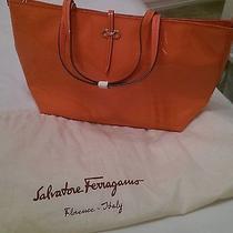 Salvatore Ferragamo Orange Purse New Made in Italy Photo