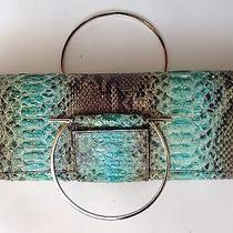 Salvatore Ferragamo Painted Snakeskin Clutch Handbag  Photo