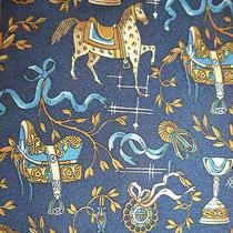 Salvatore Ferragamo Prize Winning Horse Blue Ribbon Show Pony Silk Neck Tie Photo
