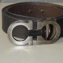 Salvatore Ferragamo Reversible Leather  Belt (Black / Brown) Sz 39 (Fb-9) Photo