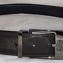 Salvatore Ferragamo Reversible Leather Belt Size 34 - 36 Brown Black Authentic Photo