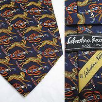 Salvatore Ferragamo Royal Tigers Silk Tie Luxury Photo