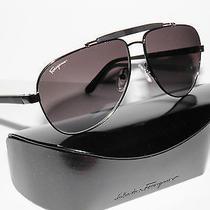 Salvatore Ferragamo Sf106s 106s 106 033 Matte Black Sunglasses Unisex Aviators Photo