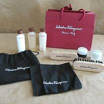 Salvatore Ferragamo Shoe Shine Polish Kit Tuscan Soul Sample Shampoo Lot Clean Photo