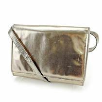 Salvatore Ferragamo Shoulder Bag Clutch 2way Gold Leather T4317 18905 Photo