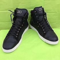 Salvatore Ferragamo Stephen Black Hightop Sneaker (Men) Size 13 D Photo