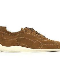 Salvatore Ferragamo Suede Low Top Driver Sneakers - Brown Size Us10 Photo