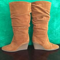 Salvatore Ferragamo Suede Wedge Boot Size 10 Nutmeg Photo