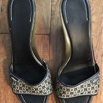 Salvatore Ferragamo Tan Brown Sculpted Wedge Sandal Size 9 Photo