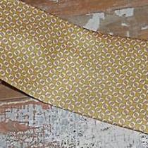 Salvatore Ferragamo Tie Dark Yellow Dolphin Design Necktie Made Italy 60