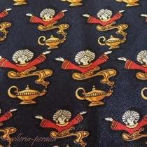 Salvatore Ferragamo Tie Silk Genie in the Lamp Repeat Pattern Necktie Italy Photo