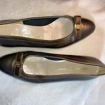 Salvatore Ferragamo Vara Bow Pumps Brown Leather Vintagewomen's Shoes Size 9.5 Photo
