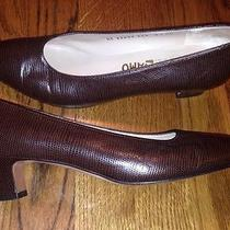 Salvatore Ferragamo Vintage Dress Shoes Size 8.5 Aa Woman Used Photo