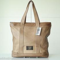 Salvatore Ferragamo Vintage Venna Tote Shopper Bag Distress Brown Nwt1300 Photo