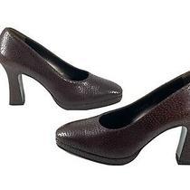 Salvatore Ferragamo Vintage Womens Brown Leather Pumps Heels  Size 7 Dk7836 Photo