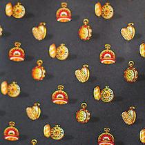 Salvatore Ferragamo Whimsical Pocketwatch Neck Tie Silk Black Photo