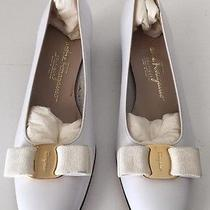 Salvatore Ferragamo White 8 1/2 Aaa Bow Toe New Other Low Heel Photo