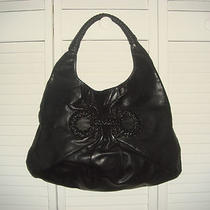 Salvatore Ferragamo Women's Braided Gancini Hobo Bag in Black- Great Condition Photo