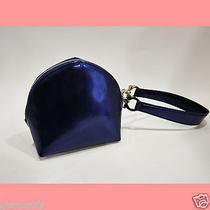Salvatore Ferragamo Wristlet - Dark Blue Purple Rare and Unique Ax 21 6665 Italy Photo