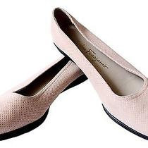 Salvitore Ferragamo Boutique  8 Nude Blush Soft Leather Ballet Flats Shoes  Cc Photo