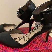 Sam Edelman Ankle Strap Heels Black Shoes Size 5.5 Photo